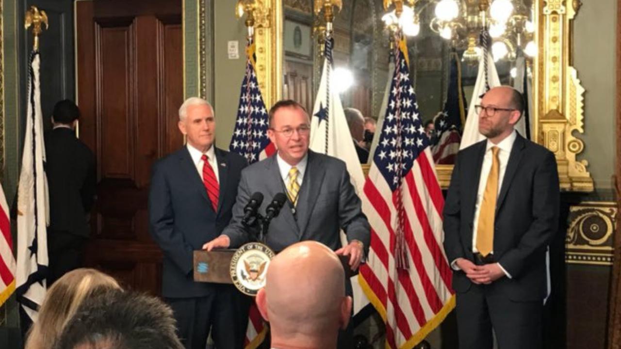 Mick Mulvaney será secretario interino de la Casa Blanca