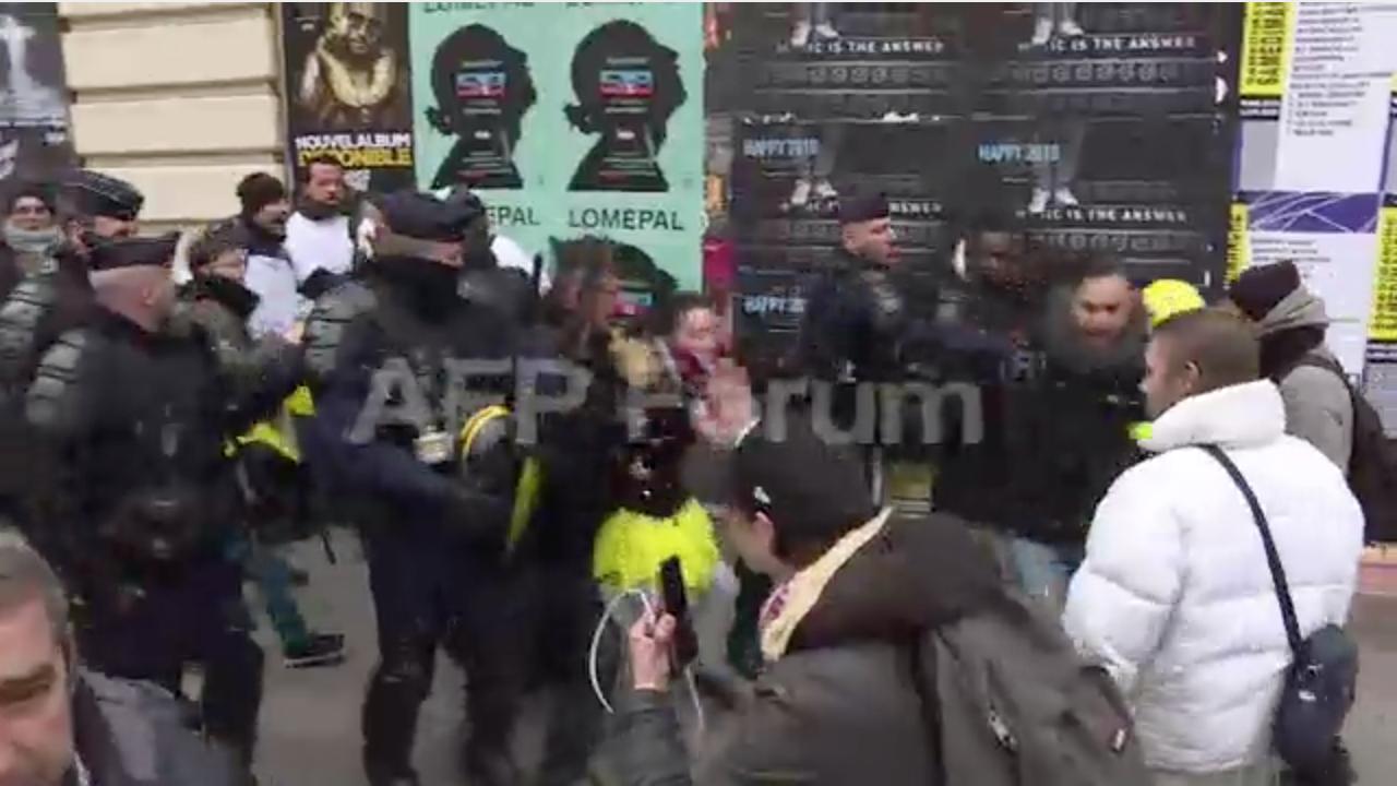 Chalecos amarillos protesta