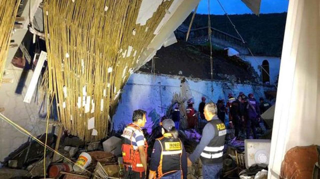 alud en boda en Perú