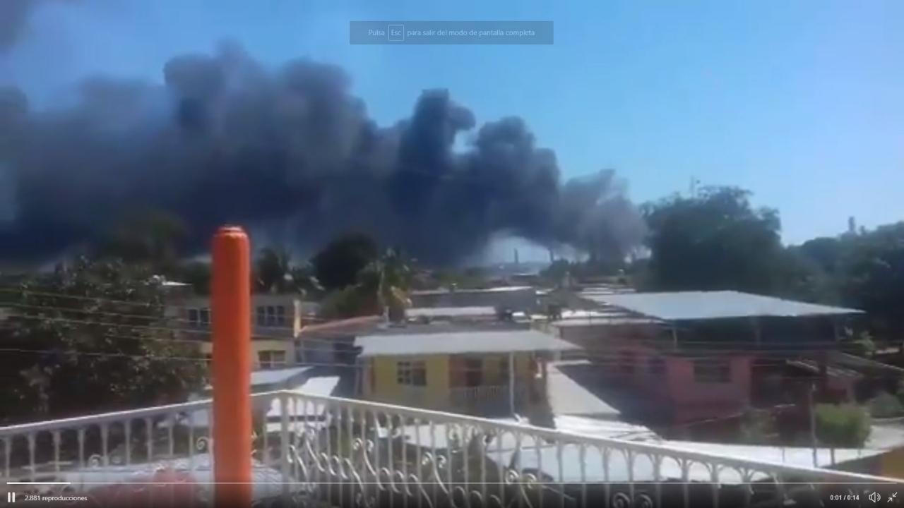 Explosión de refinería en Minatitlán