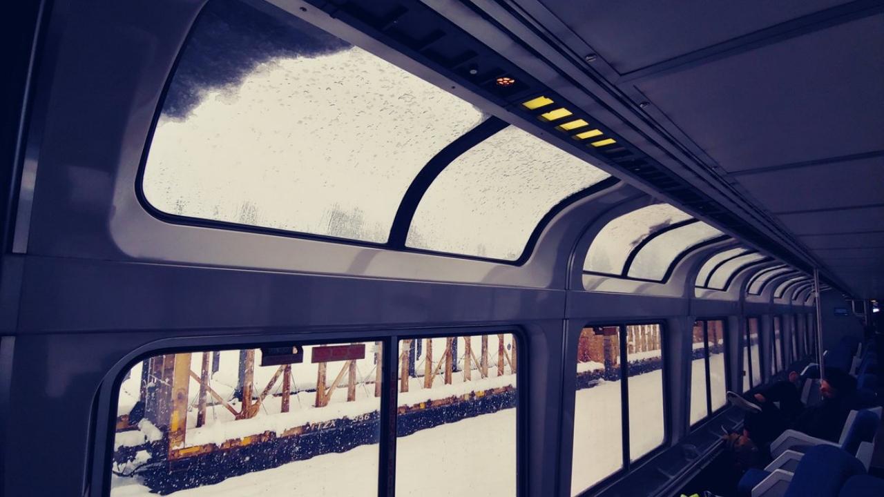 Pasajeros atrapados tren