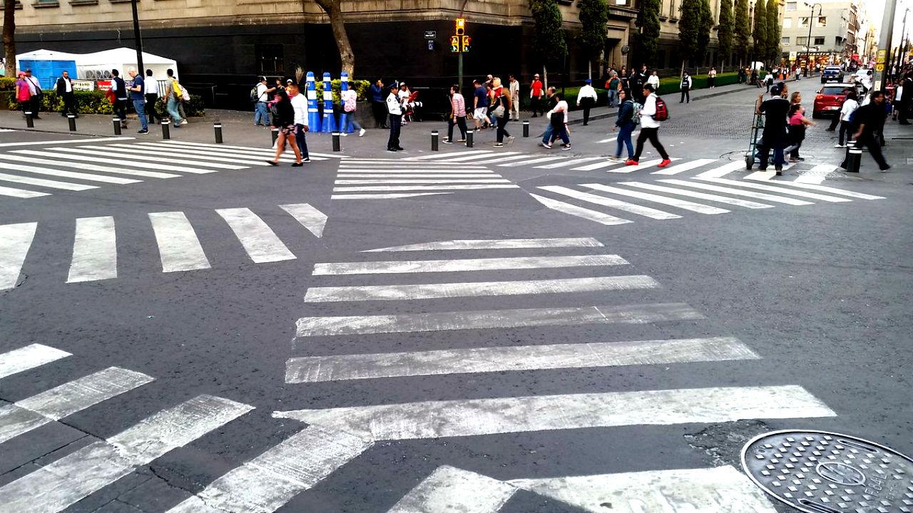 Cruce peatonal diagonal