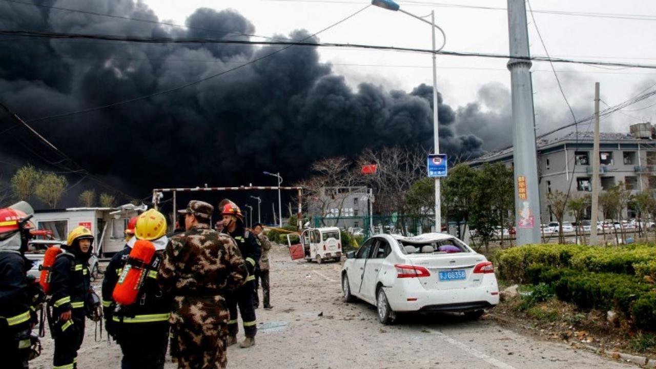 China-explosión planta química