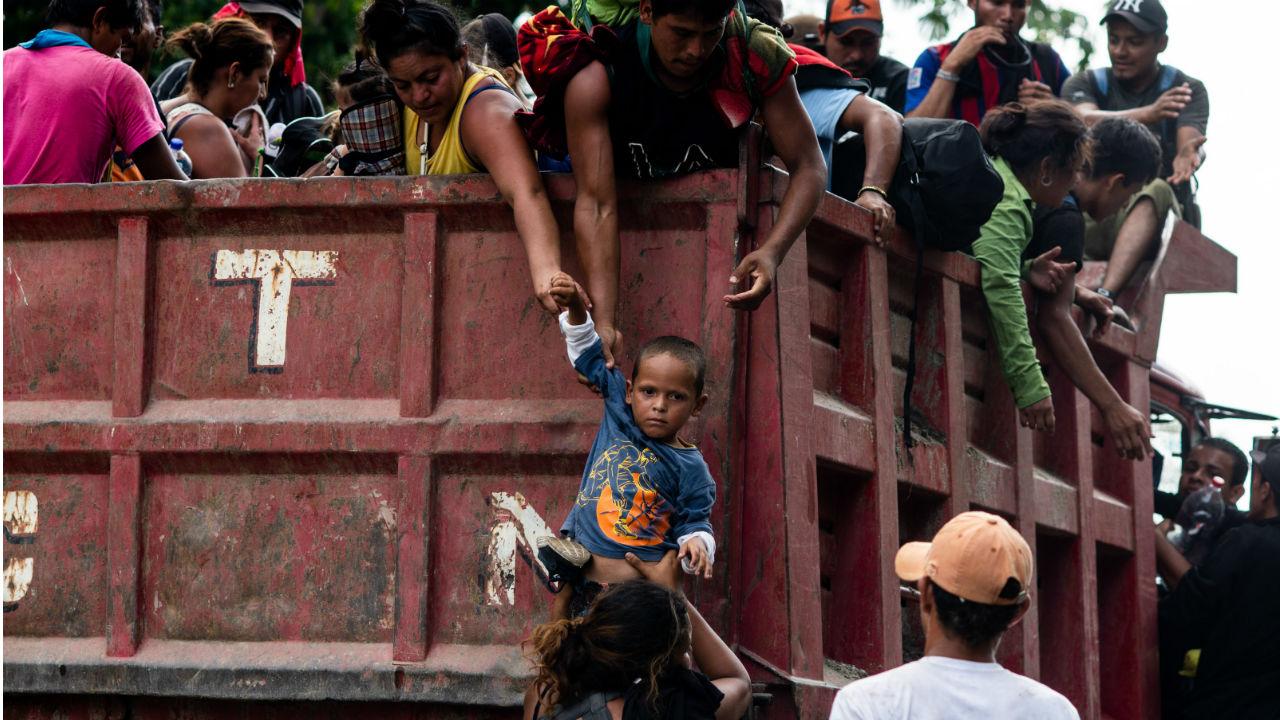 EU evitar caravanas migrantes