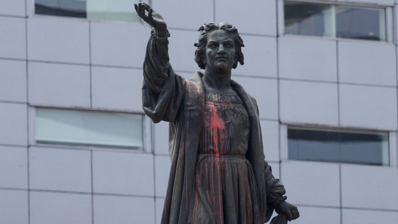 Hernán Cortés y Cristóbal Colón