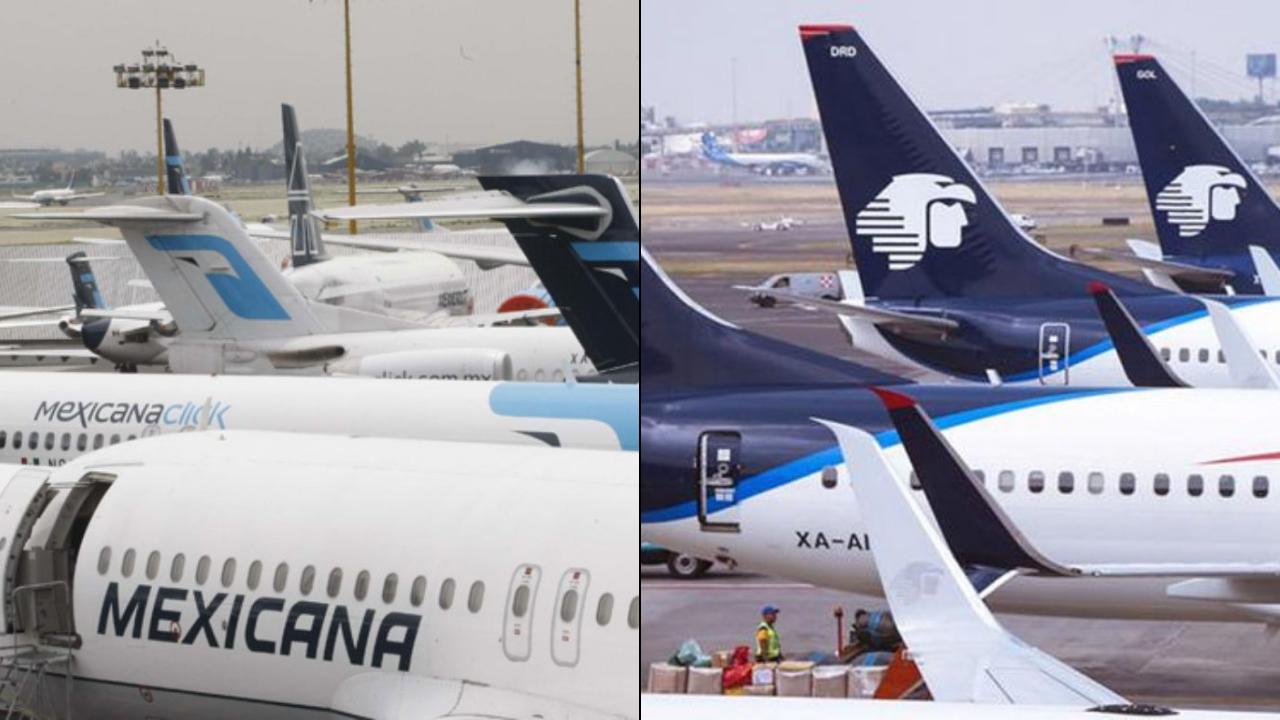 Aeroméxico y Mexicana