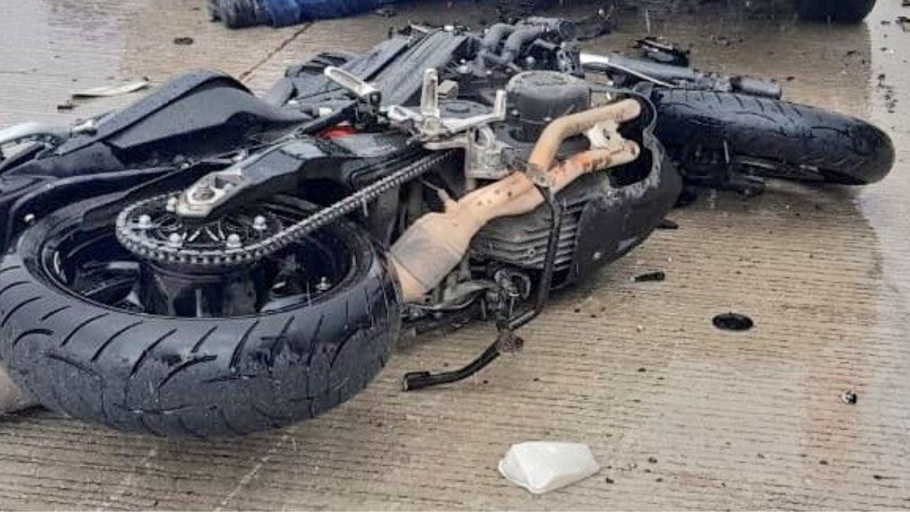 Muere motociclista Puebla