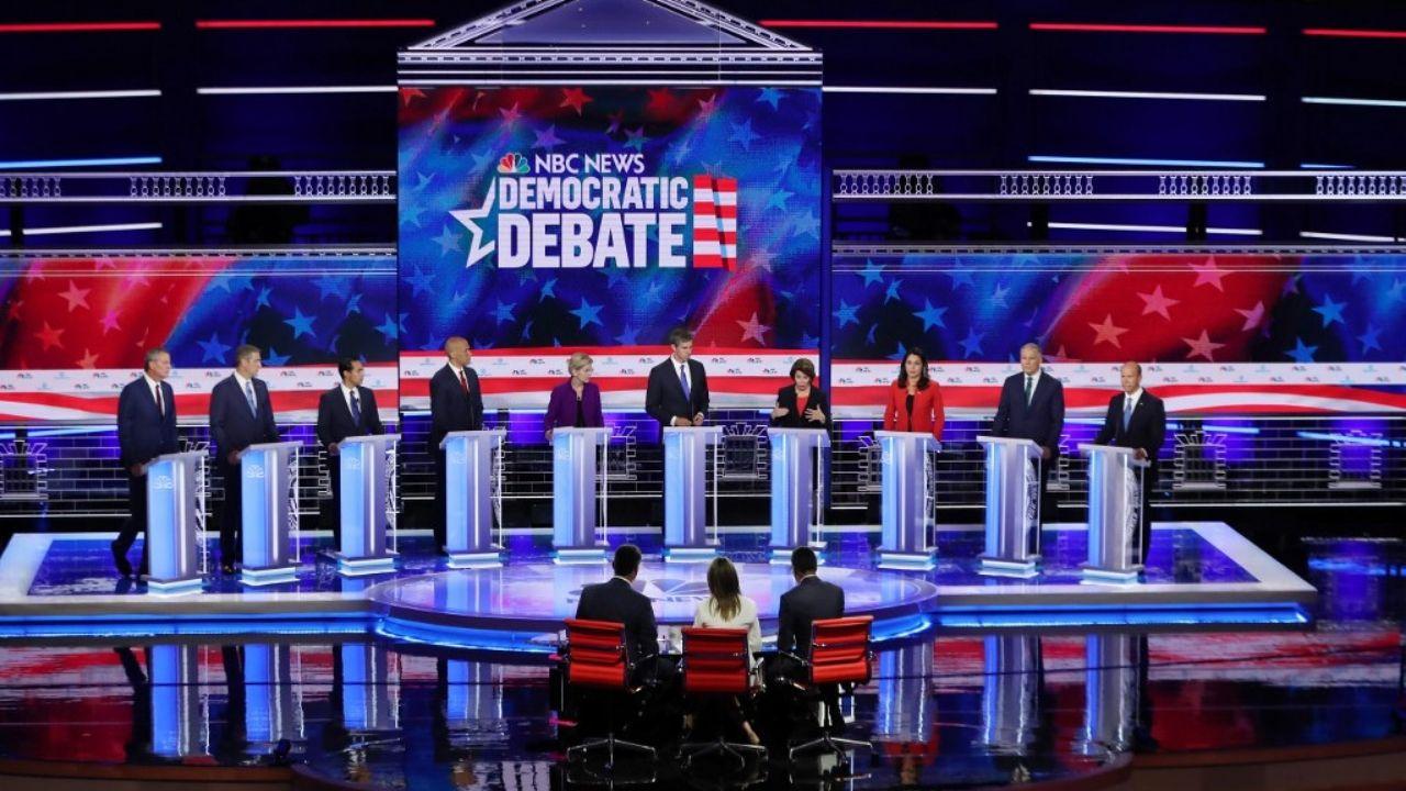Elizabet Warren debate Demócrata