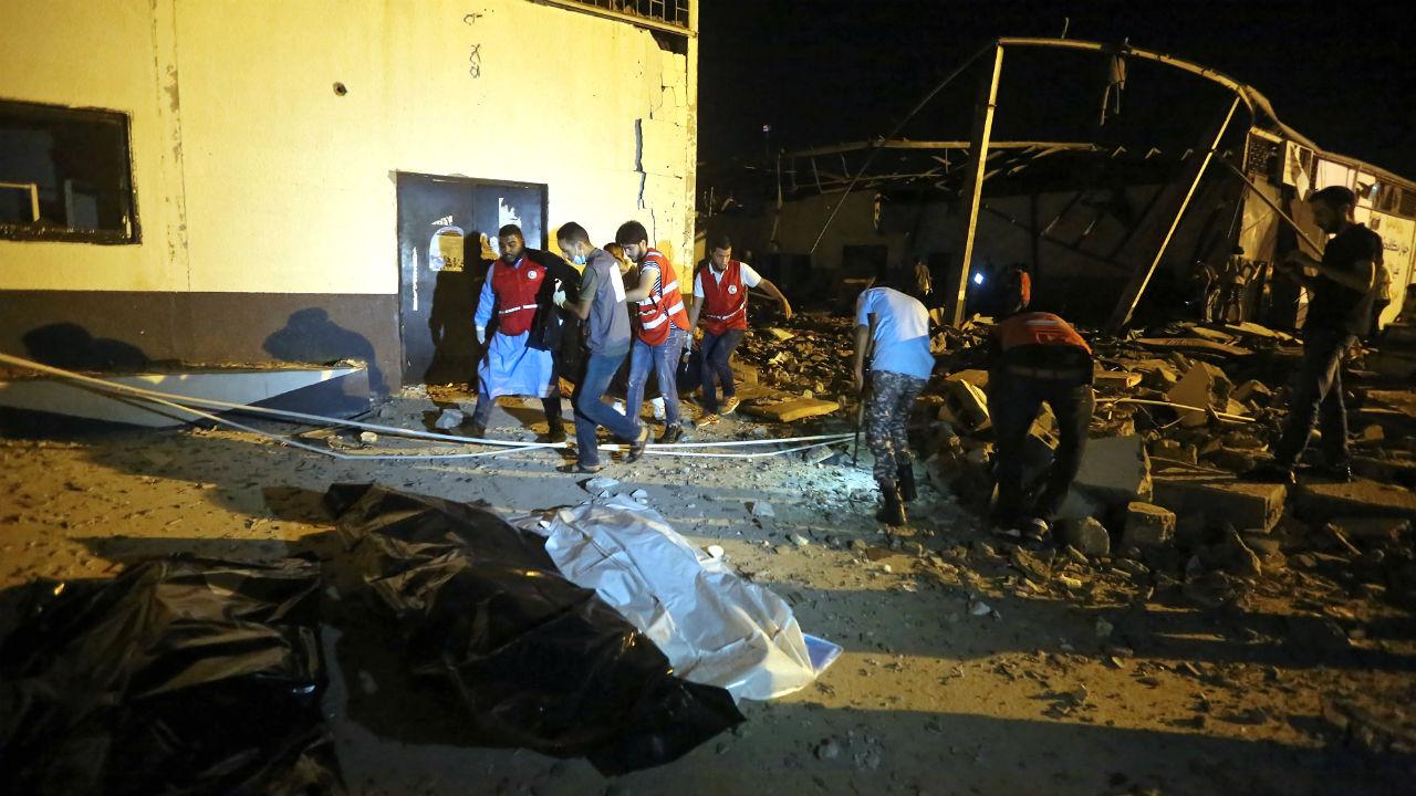 ataque centro migrantes libia