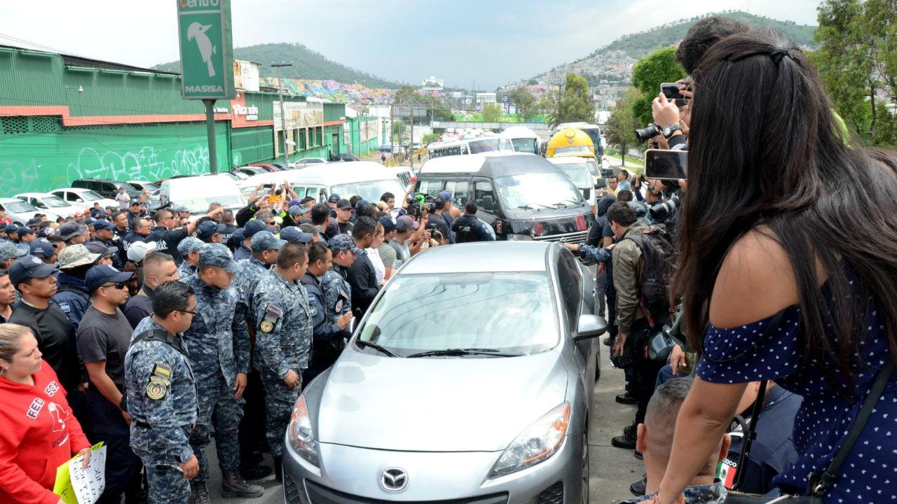 policía paro nacional