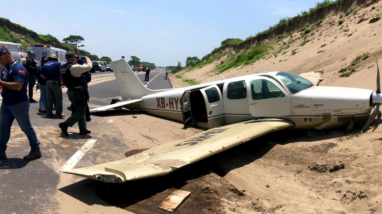 avioneta aterrizó emergencia boca río