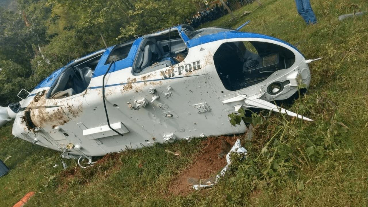 Helicóptero policía implicado
