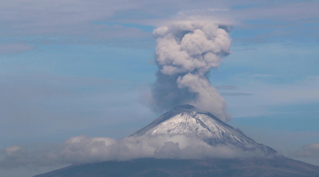 Cenizas Popocatépetl Xochimilco