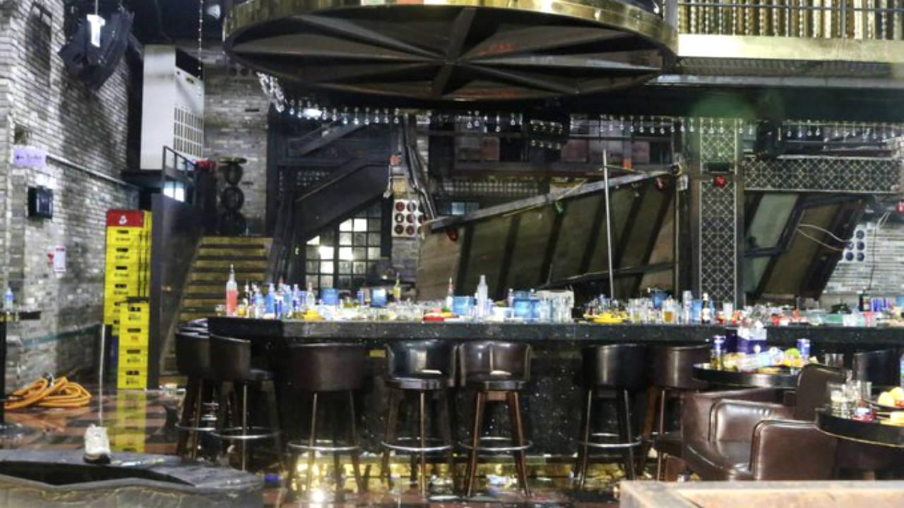corea sur accidente bar muertos