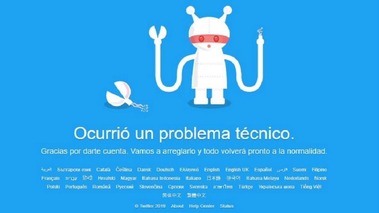 twitter caído