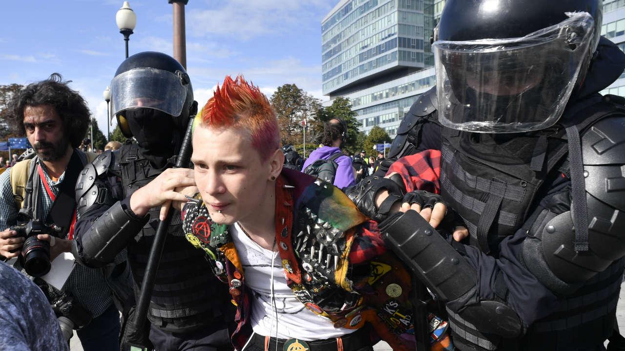 manifestantes moscú