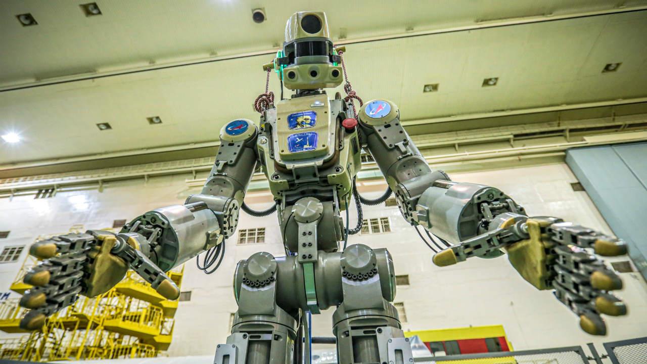 estación espacial robot