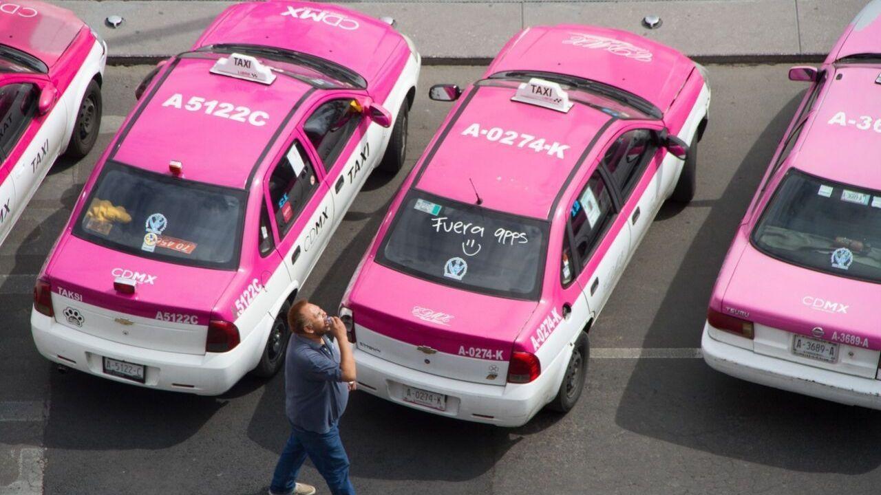 Taxistas movilización