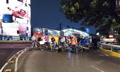 ciclistas manifestaron