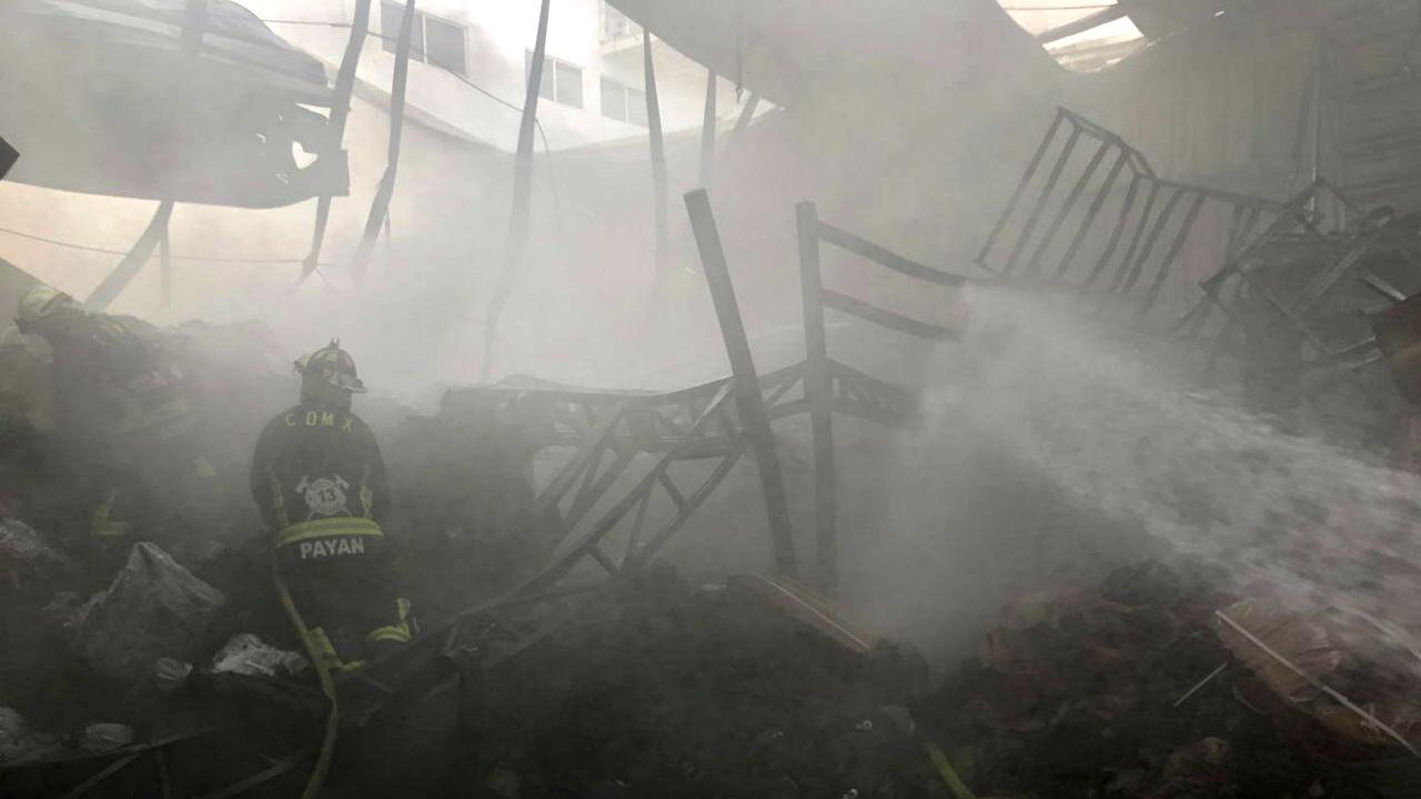 incendio bodega centro