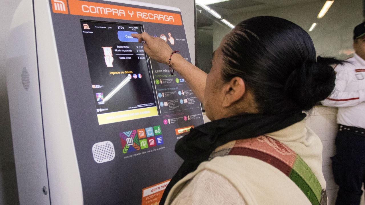 máquinas recargar tarjetas metro
