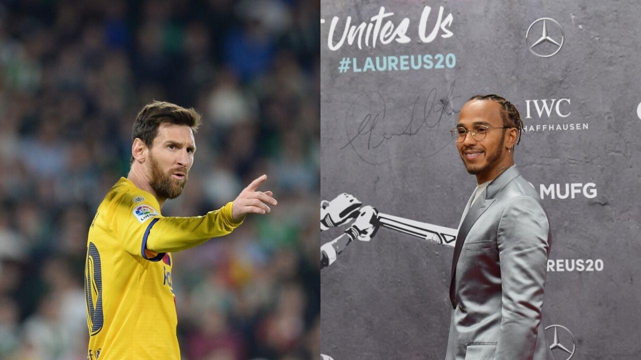 Messi y Hamilton