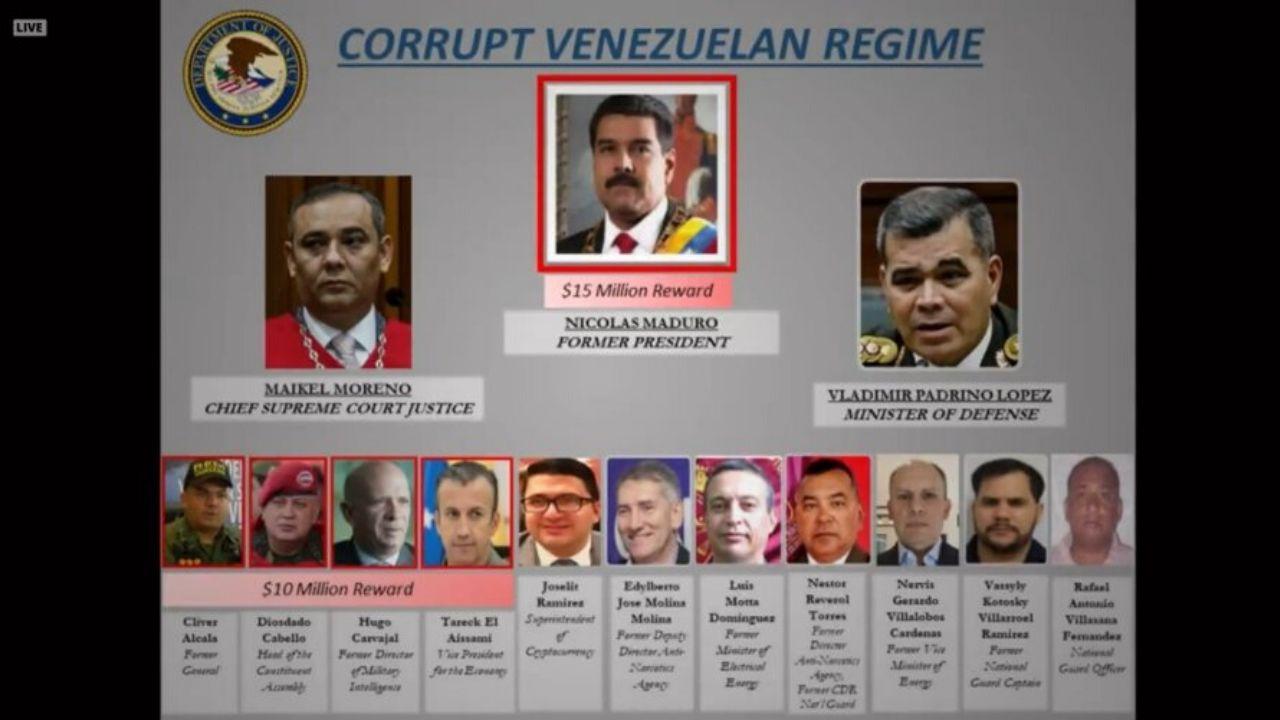 """EUA acusa a Maduro de """"narcoterrorismo"""" — Noticias en la Mira"""