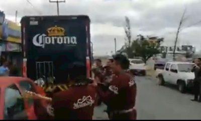 Camión cerveza Saltillo