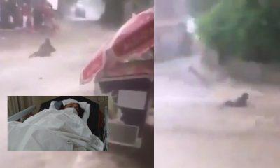 mujer inundación turquía
