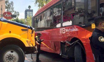 choque Metrobús Insurgentes