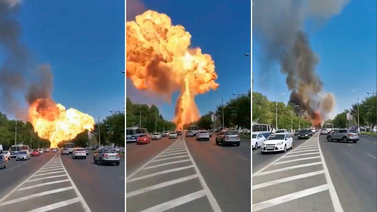 Rusia explosión gasolinera