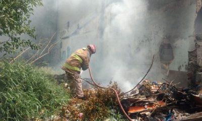 incendio vivienda Nuevo León