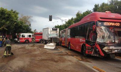 metrobús choque