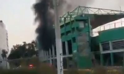 estadio león incendio