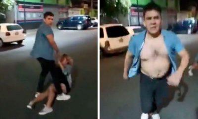 hombre golpea mujer Ajusco