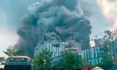incendio fábrica huawei