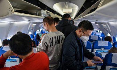 pasajeros avión coronavirus