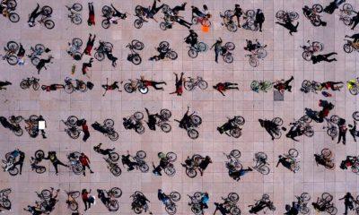 ciclistas Monumento Revolución